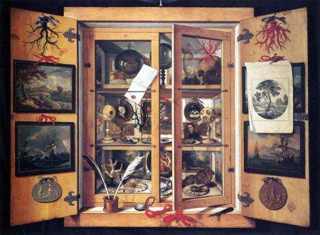 Gabinete de curiosidades 1690 -Domenico Remps Opificio delle pietre dure